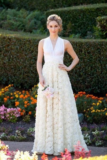Goddess By Nature Ballgown Full Chiffon Rosette Skirt