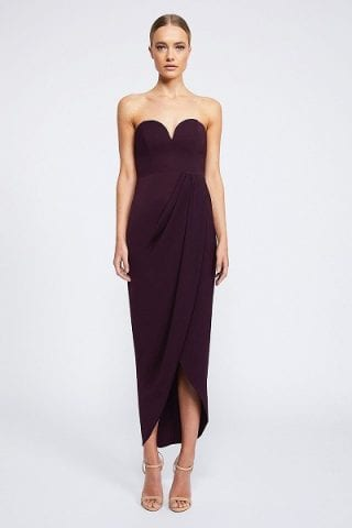 Shona Joy CORE Collection - U Bustier Draped Midi Dress SJ2149