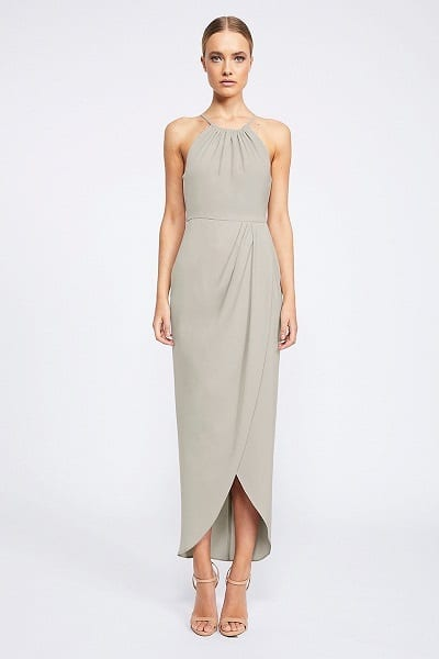 Shona Joy CORE Collection - High Neck Ruched Dress SJ2356