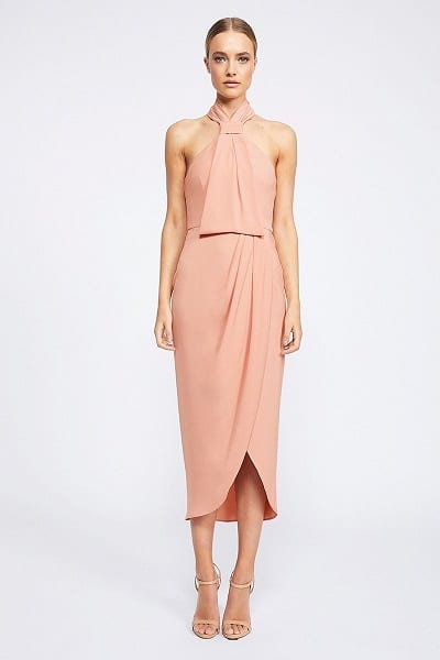 Shona Joy CORE Collection - Knot Draped Midi Dress SJ2581