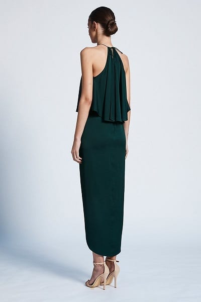 Bridesmaids_Shona_Joy_Luxe_SJ3494_Halter_Frill_Cocktail_Dress_Bridesmaid_Dresses_Melbourne_Emerald_Back