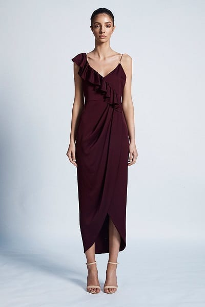 Shona Joy LUXE Collection - Assymetrical Frill Cocktail Dress SJ3510