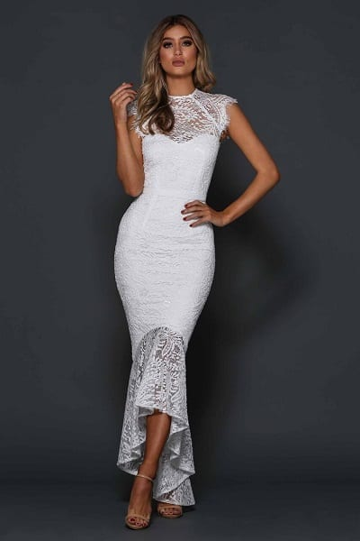 Elle Zeitoune Cassandra Dress White