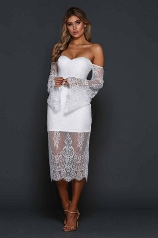Elle Zeitoune Christopher Dress White
