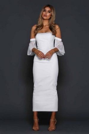 Elle Zeitoune Minogue Dress White