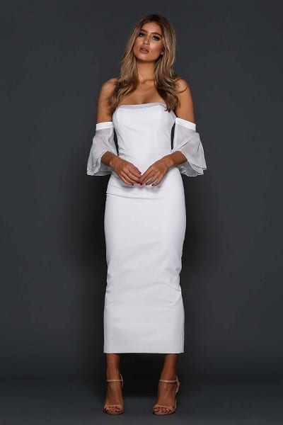 Elle Zeitoune Minogue Dress White