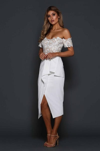 Elle Zeitoune Tango Dress White
