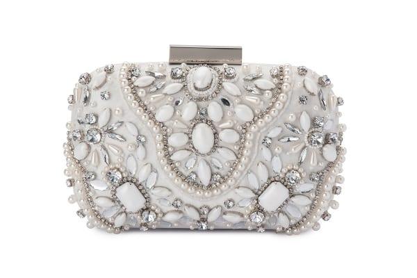 Clarise_Clutch_Evening_Handbag_Melbourne_Australia_Bridesmaids_Olga_Berg_White_OB3146_WHT