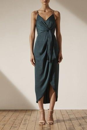 Bridesmaids_Shona_Joy_Luxe_SJ3965_Luxe_Tie_Front_Cocktail_Dress_Bridesmaid_Dresses_Melbourne_Emerald_Front