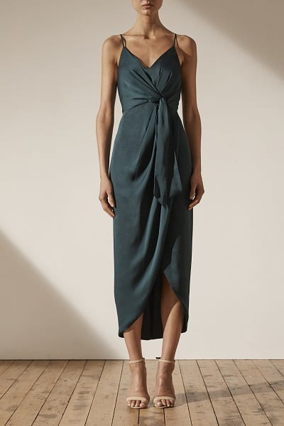 Bridesmaids_Shona_Joy_Luxe_SJ3965_Luxe_Tie_Front_Cocktail_Dress_Bridesmaid_Dresses_Melbourne_Emerald_Front
