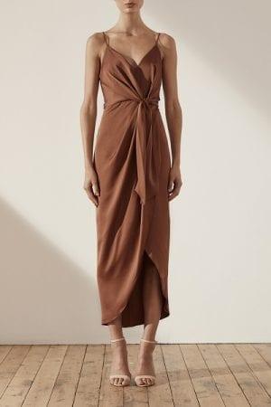 Bridesmaids_Shona_Joy_Luxe_SJ3965_Luxe_Tie_Front_Cocktail_Dress_Bridesmaid_Dresses_Melbourne_Mocha_Front