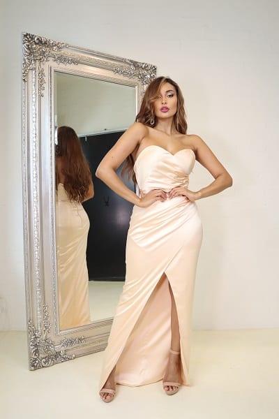 Bridesmaids_Jadore_JP102_Evening_Dress_Bridesmaid_Dresses_Melbourne_Champagne_Front