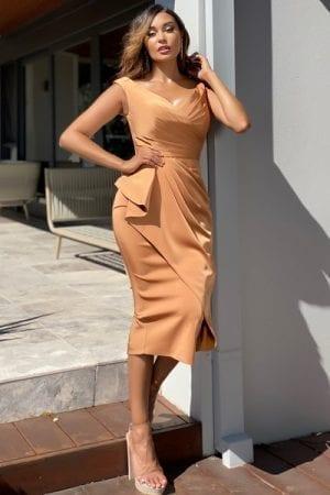 Bridesmaids_Jadore_JX5061_Evening_Dress_Bridesmaid_Dresses_Melbourne_Copper_Front
